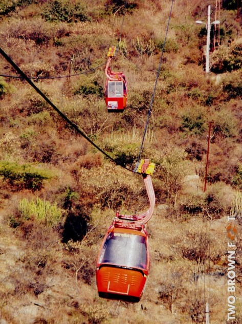 Cable Car Ride - Udaipur, Rajasthan, India.