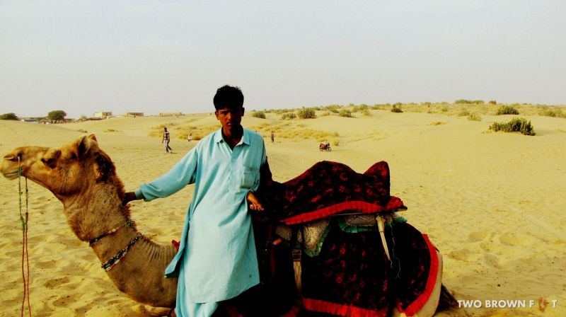 Sharukkh and his Master - Sam Desert, Rajasthan, India.