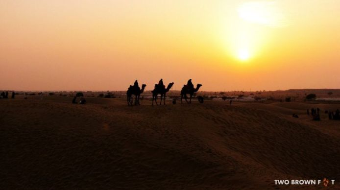 Three - Sam Desert, Rajasthan, India.