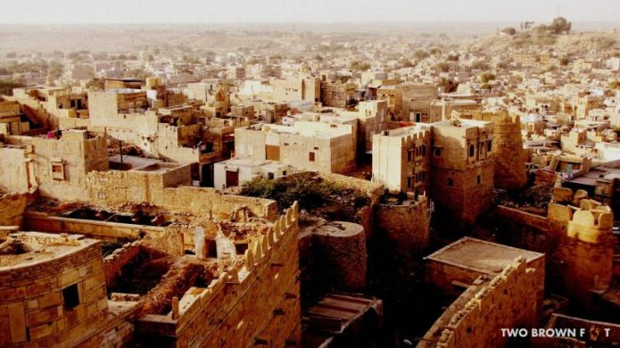 A bird's eye view - Jaisalmer Fort, Rajasthan, India.