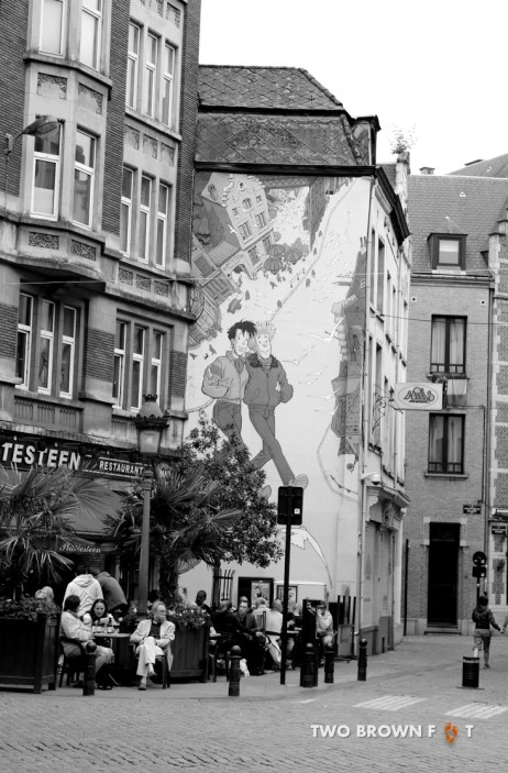 It's hard to miss graffiti or anything relation to comics in Brussels.