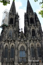 The external façade of the Koln Cathedral.