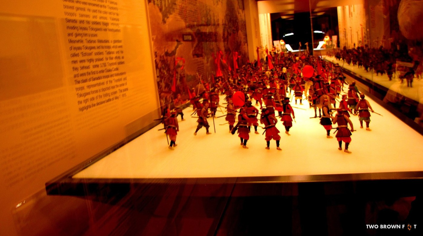Toy soldiers used to depict one of the war sequences.