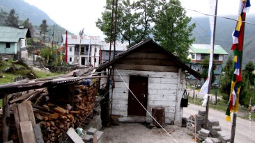 A typical log cabin in Lachung. For the sturdy traveller!