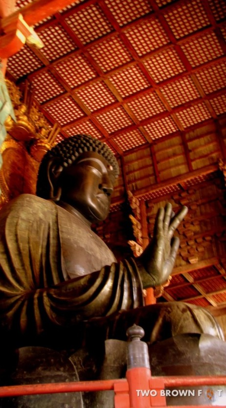The towering statue of Lord Buddha.