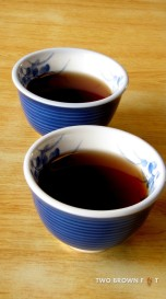 Two bowls of tea - Nara, Japan.