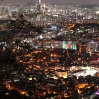A Bird's-Eye View of Seoul from NSeoul Tower