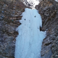 Gugok's Frozen Waterfall and Gutsy Ice Climbers