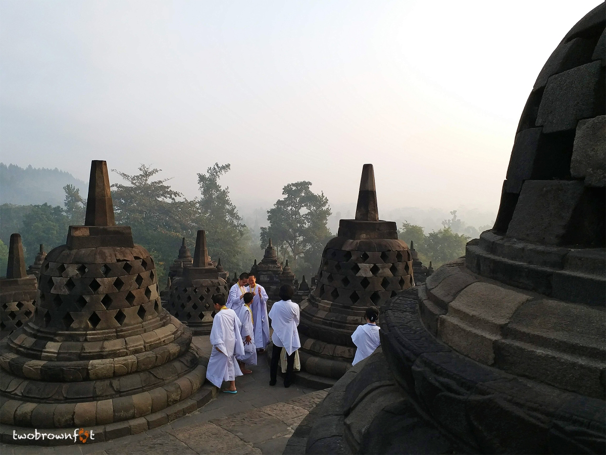 Walking from Darkness towards Light in Borobudur