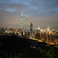 Sunset Hike on Taipei's Elephant Mountain