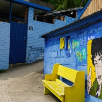 The Highest Cafe of Jaman Mural Village (자만벽화마을)