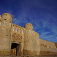 A Glimpse inside Khiva's Fortress Wall (Itchan Kala)